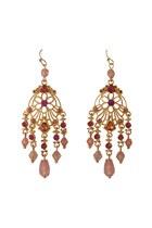 gold plated Diamond Petal earrings