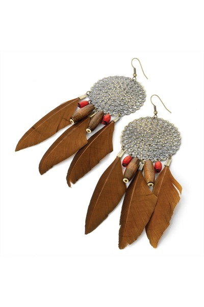 feather Diamond Petal earrings