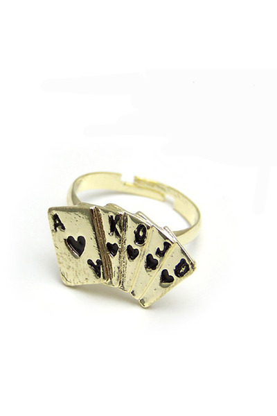 gold plated Diamond Petal ring