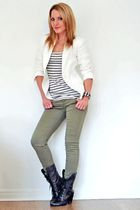 River Island top - Zara jeans - River Island boots - Mango jacket - escada brace