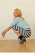 Topshop shirt - River Island boots - Topshop dress