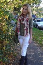 blouse - jeans - boots - bag