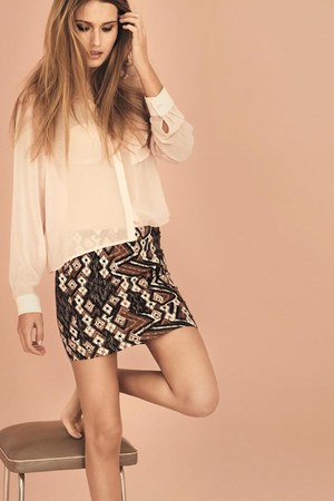 New Yorker shirt - H&M Trend skirt