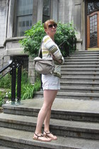 Anthropologie shirt - Nine West bag - H&M shorts
