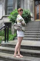 Anthropologie shirt - Nine West bag - H&M shorts
