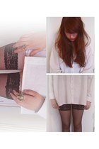 cotton vintage shirt - nylon department store intimate - golden H&M ring