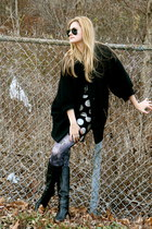 French Connection coat - milly skirt - Lucky Brand boots