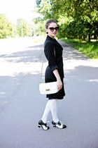 black Lola Ramona shoes - black silk H&M dress - black no brand blazer