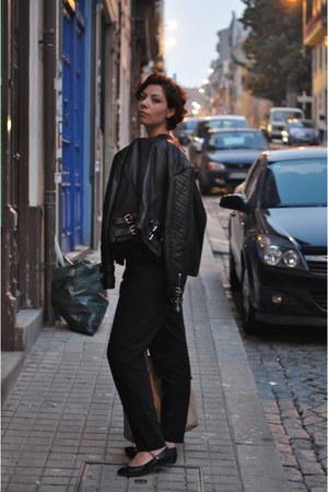 Zara jacket - Zara pants - Topshop flats