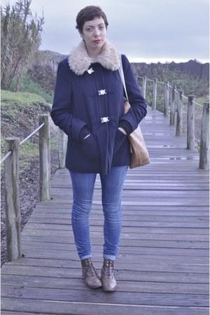 asoscom boots - Topshop coat - asoscom jeans - Pickpocket bag