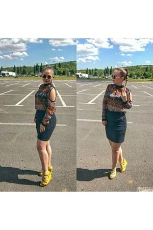 yellow C L M heels