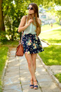 Aquamarine-f-f-blouse-brown-h-m-bag-navy-bershka-skirt