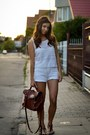 Brown-zara-bag-white-secondhand-shorts-dark-brown-tally-weijl-sandals
