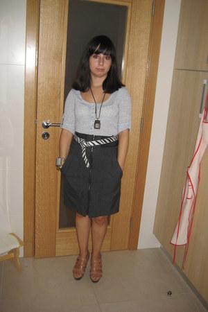 Zara shoes - Zara skirt - Zara blouse