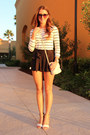 Cream-nine-west-bag-black-jessica-simpson-shorts