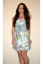 sky blue floral print Goldstone dress - light blue Awear vest