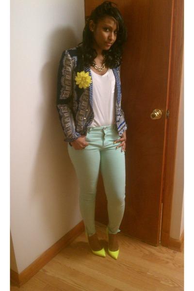 Zara blazer - H&M top - Zara pants - Christian Louboutin pumps
