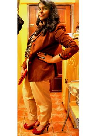 H&M blouse - Christian V Siriano shoes - River Island blazer