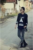 black Dr Martens boots - black Dr Martens boots - black New Yorker jacket