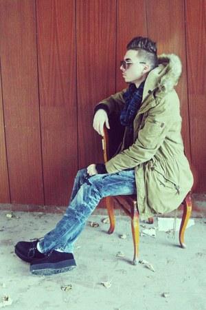 dark khaki pull&bear jacket