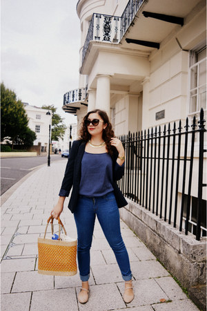 mustard Seasalt Cornwall bag - blue Cheap Monday jeans - navy Primark jacket