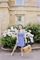 violet Zara dress - yellow Seasalt Cornwall bag