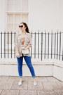 Blue-cheap-monday-jeans-cream-vintage-shirt-tawny-h-m-vest