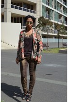 tea rose rayon Zimmermann jacket - rats spandex sass & bide leggings