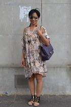cotton Zimmermann dress - leather Chanel bag - Mimco necklace