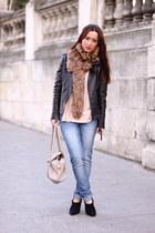 fur collar MuffStore scarf - Zara boots