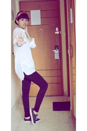 blouse - leggings - shoes - scarf