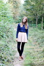 Navy-h-m-sweater-beige-american-apparel-skirt