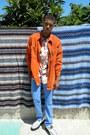 Sky-blue-levis-jeans-carrot-orange-corduroy-disciplesof-jacket