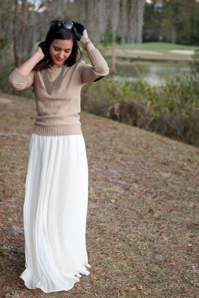 pleated skirt wyatt skirt - sweater Forever 21 sweater
