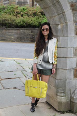 jacket Mural jacket - satchel 31 Phillip Lim bag - shorts Forever 21 shorts