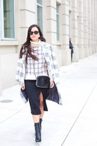 Oversized Plaid Coat