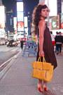 Brick-red-silk-all-saints-dress-yellow-satchel-31-phillip-lim-bag