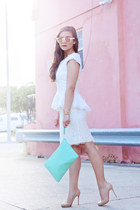 clutch GiGi New York bag - lace CWonder skirt - pumps Christian Louboutin pumps