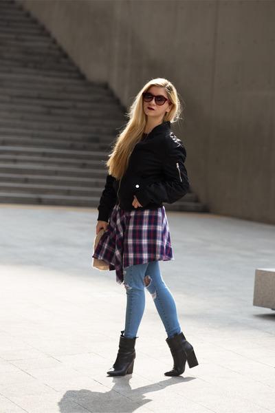 zaful jacket - Zara boots - zaful hoodie