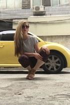 ivory stripe shirt H&M shirt