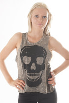 light brown skull DivaNYcom top