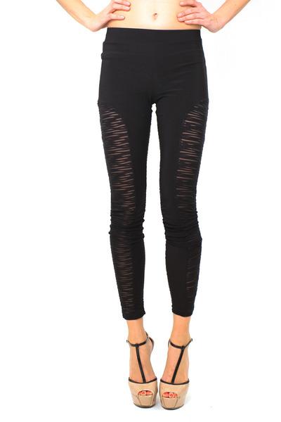 black mesh leggings DivaNYcom leggings