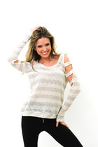 ivory knit DivaNYcom sweater