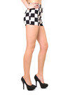 Peach Checkers Diva N Ycom Shorts
