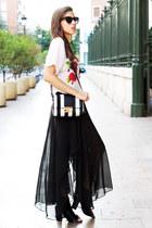 chiffon skirt - shirt
