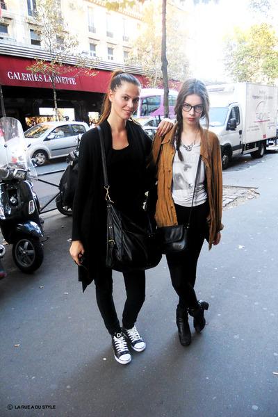 Leather Jacket Vintage Jackets, Converse Sneakers | Paris C'est