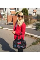 red Terranova jacket - dark gray Lollipops bag - white Tally Weijl blouse