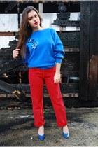 red 501 vintage Levis jeans - blue DollsMaison jumper