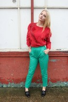 red DollsMaison jumper - green DollsMaison pants