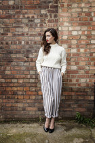 off white cable knit DollsMaison jumper - heather gray DollsMaison pants